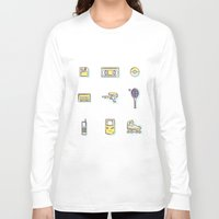 90s Long Sleeve T-shirts featuring 90s Stuff by POP Collective