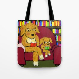 Reading dogs Tote Bag