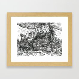 Inktober 2017: The Crew of 'The Crown of Horns' Framed Art Print