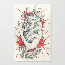 Holding The Heart Canvas Print