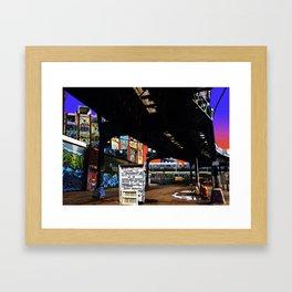 Under the F-Line - New York Framed Art Print