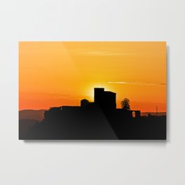 Trifels castle in dawn Metal Print