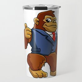 Gorilla in suit. Travel Mug