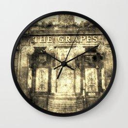 The Grapes Pub London Vintage Wall Clock