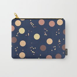 Rain Drops In The Moon Lit Night Sky - Retro Minimalism Carry-All Pouch