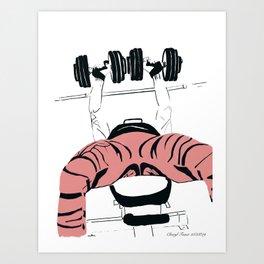 Dumbbell Bench Press Art Print
