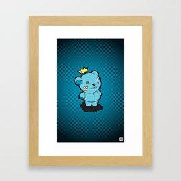 Blue Dead Bear Framed Art Print