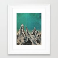 mountains Framed Art Prints featuring Mountains by Amelia Senville