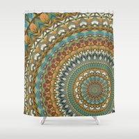 the 100 Shower Curtains featuring Mandala 100 by Patterns of Life