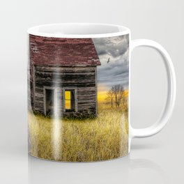 The Death of the Small American Farm with Abandoned Truck and Farm House Coffee Mug