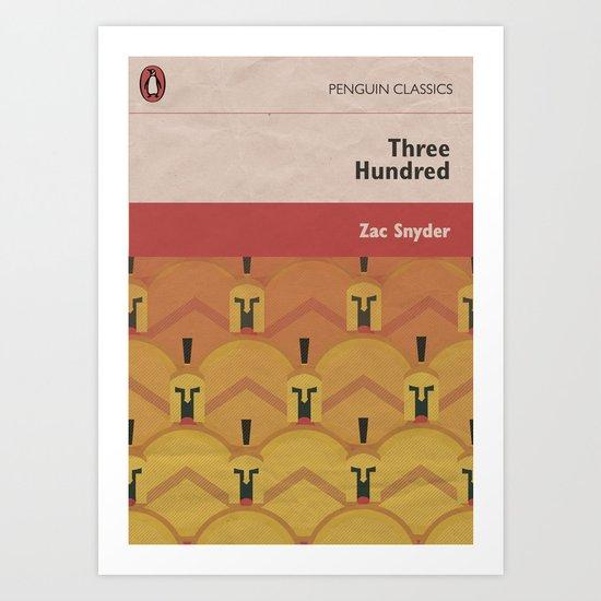 300 - Movie Poster in a Penguin Books Version, penguin books, penguin classic, Frank Miller Art Print