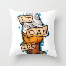 Lt. Dan Ice Cream! Throw Pillow