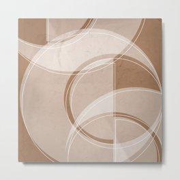Where the Circles and Semi-Circles Meet in Cinnamon Metal Print
