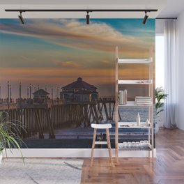 The Pier at Sunset Wall Mural