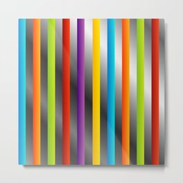 Colorful and shiny stripes on metal Metal Print