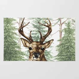 Woodland Deer Rug