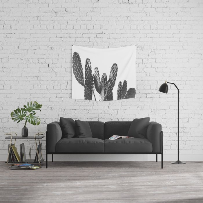 Cactus Photography Print {3 of 3} | B&W Succulent Plant Nature Western Desert Design Decor Wall Tapestry