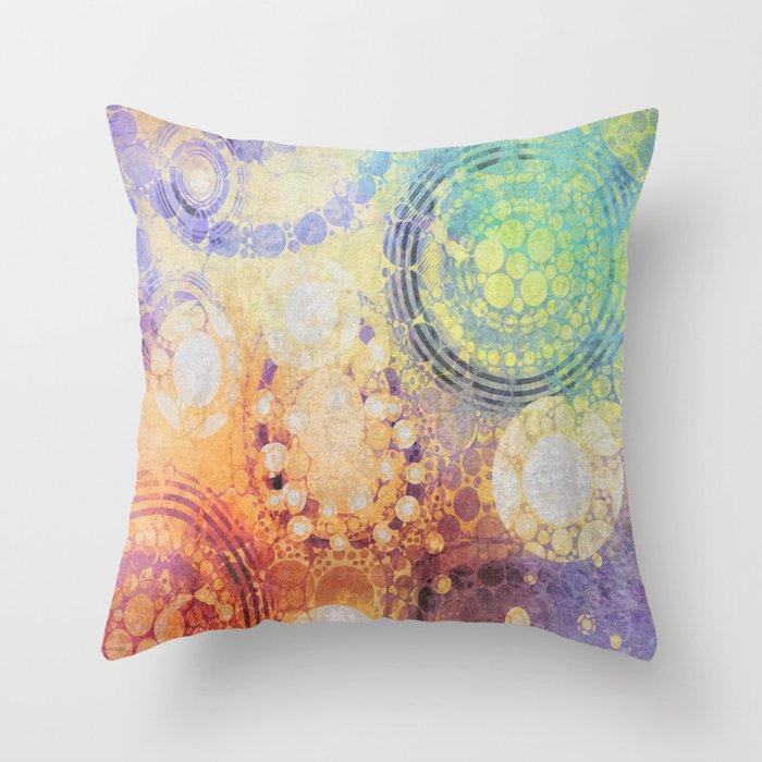 Circles Carnival Throw Pillow