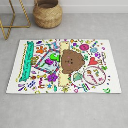 JB the Chocolate Poodle Rug