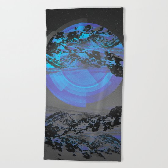 Neither Up Nor Down Beach Towel