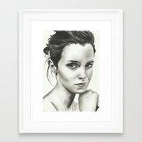 emma watson Framed Art Prints featuring Emma Watson by Meliese Reid