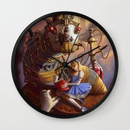 Sandra's Steampunk Alice in Wonderland Wall Clock