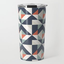 Abstract Contemporary Geometric Retro Pattern 07 Travel Mug