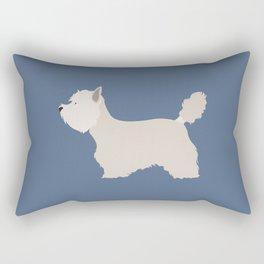 White West Highland Terrier Dog Rectangular Pillow