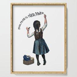 Banksy Ocasio-Cortez Resist Protest USA Serving Tray