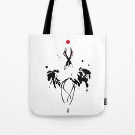 transcenDance // (crane) Tote Bag