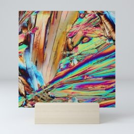 Abstract Art - Crystal Rainbow Stripes - Shards Mini Art Print