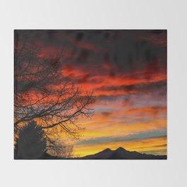 Fire Sunset Throw Blanket