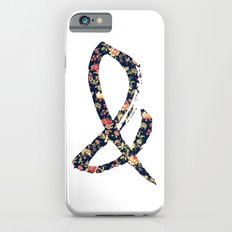 Vintage Floral Ampersand Retro Girly Typography iPhone 6 Slim Case