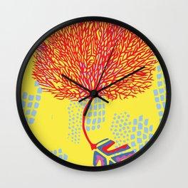 Big Coral Wall Clock