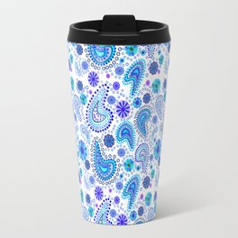 Paisley Power (White Background) Travel Mug