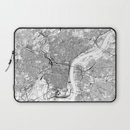 Philadelphia White Map Laptop Sleeve