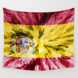 Extruded Flag of Spain Wall Tapestry
