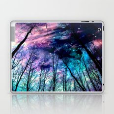 Black Trees Colorful SpacE Laptop & iPad Skin