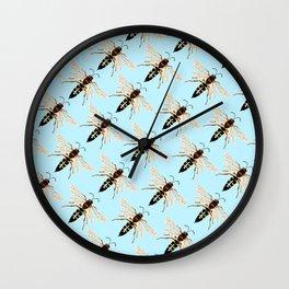 Wasp Swarm Pattern Wall Clock