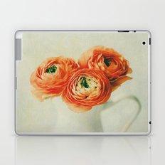 Orange Ranunculus Textured  Laptop & iPad Skin