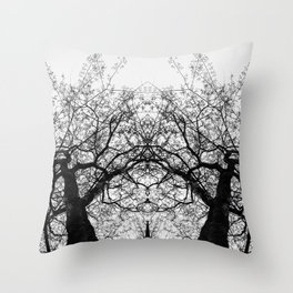 Dark Leaves by Charles Mike Throw Pillow