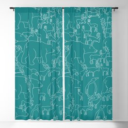 Global warming and animal migration 05 Blackout Curtain