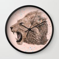 leo Wall Clocks featuring Leo by dogooder