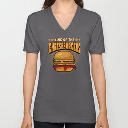 Burger Fast Food Hamburger Hungry Food Unisex V-Neck
