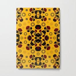 Fiesta Folk Yellow #society6 #folk Metal Print