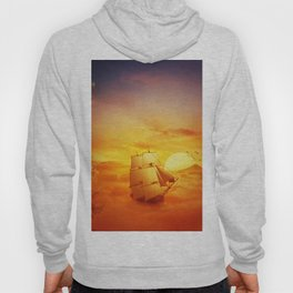 surreal ship adventure Hoody