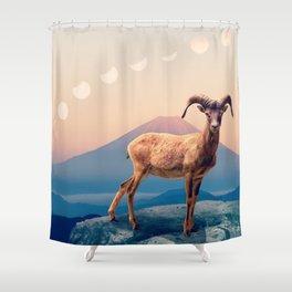 Mountain Ibex by GEN Z Shower Curtain