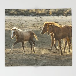 Sparked by Water Throw Blanket