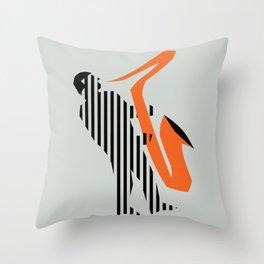 Vintage poster-Jazz festival-Newport beach 2. Throw Pillow