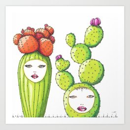 Succulent Ladies Art Print